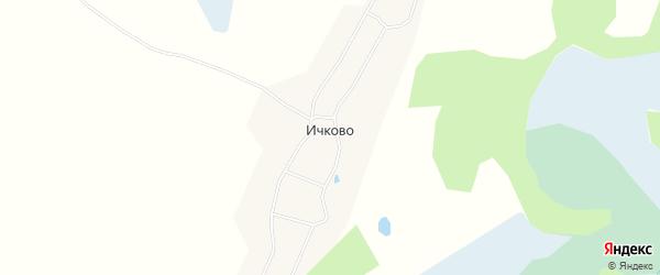 Карта деревни Ичково в Архангельской области с улицами и номерами домов