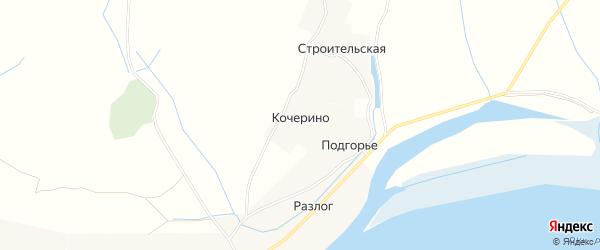 Карта деревни Кочерино в Архангельской области с улицами и номерами домов