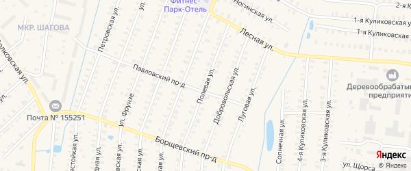 Полевая улица на карте Родники с номерами домов