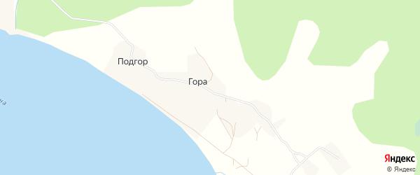 Карта деревни Подгор (Хаврогорский с/с) в Архангельской области с улицами и номерами домов