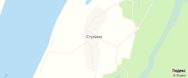 Карта деревни Ступино в Архангельской области с улицами и номерами домов