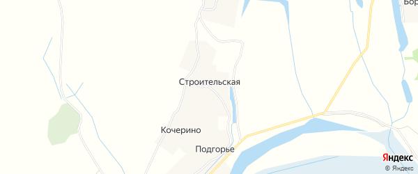 Карта Строительской деревни в Архангельской области с улицами и номерами домов