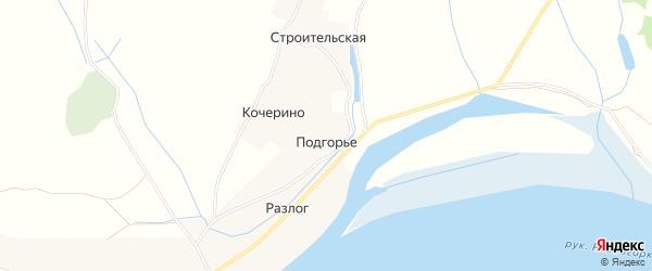 Карта деревни Подгорья (ломоносовского с/с) в Архангельской области с улицами и номерами домов