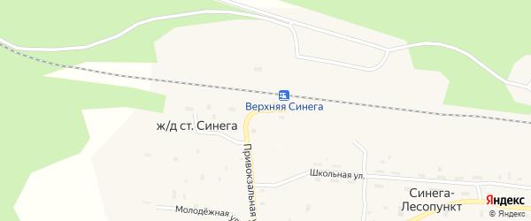 Привокзальная улица на карте поселка Синеги-Лесопункт с номерами домов