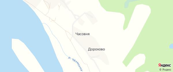 Карта деревни Сергеевщины в Архангельской области с улицами и номерами домов