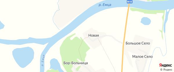 Карта Новой деревни в Архангельской области с улицами и номерами домов