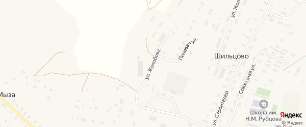 Улица Жолобова на карте деревни Шильцово с номерами домов
