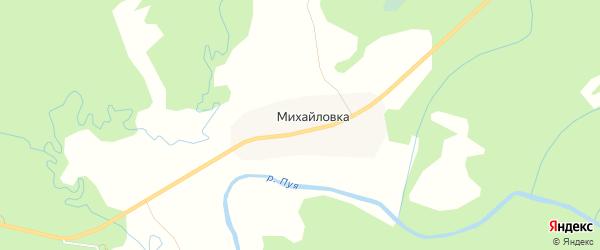 Карта деревни Михайловки в Архангельской области с улицами и номерами домов