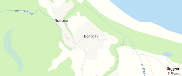 Карта деревни Волость (Емецкий с/с) в Архангельской области с улицами и номерами домов