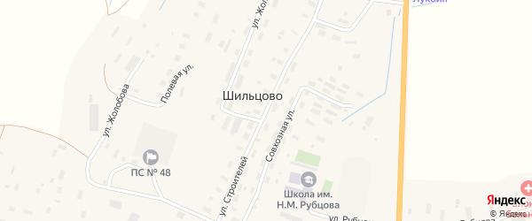 Улица Строителей на карте деревни Шильцово с номерами домов