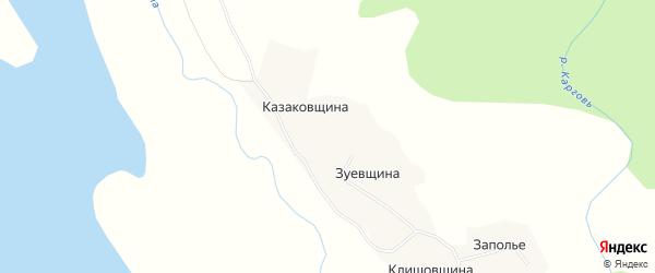 Карта деревни Пустыщи в Архангельской области с улицами и номерами домов