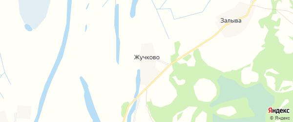 Карта деревни Жучково в Архангельской области с улицами и номерами домов