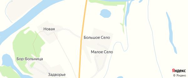 Карта деревни Большого Село в Архангельской области с улицами и номерами домов