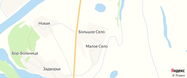 Карта деревни Малого Село в Архангельской области с улицами и номерами домов