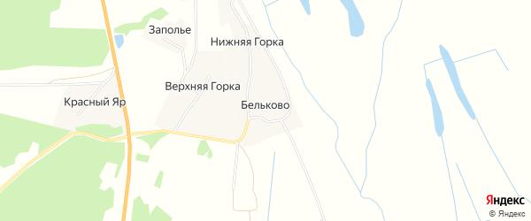 Карта деревни Бельково в Архангельской области с улицами и номерами домов