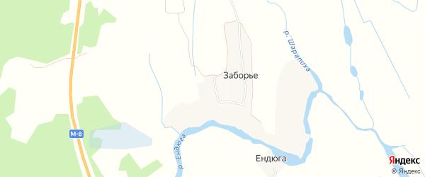 Карта деревни Крюка в Архангельской области с улицами и номерами домов