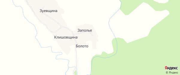 Карта деревни Болото (Хаврогоры) в Архангельской области с улицами и номерами домов