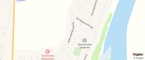 Улица Павлова на карте села Емецка с номерами домов