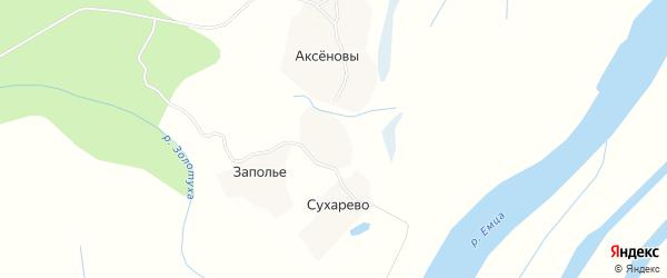 Карта деревни Такшеево в Архангельской области с улицами и номерами домов