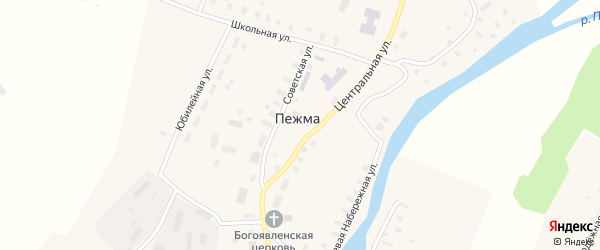 Улица Малая Высокуша на карте села Пежма с номерами домов