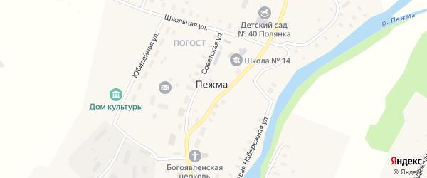 Дербинская улица на карте села Пежма с номерами домов