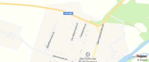 Октябрьская улица на карте села Пежма с номерами домов
