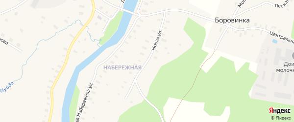 Новая улица на карте села Пежма с номерами домов