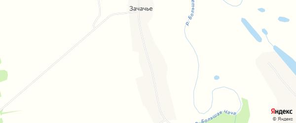 Карта деревни Зачачье в Архангельской области с улицами и номерами домов