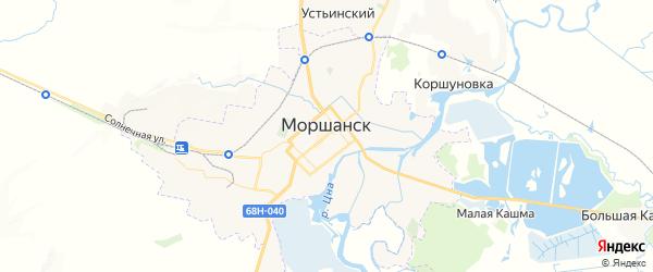 Карта Моршанска с районами, улицами и номерами домов