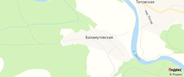 Карта Титовской деревни в Архангельской области с улицами и номерами домов