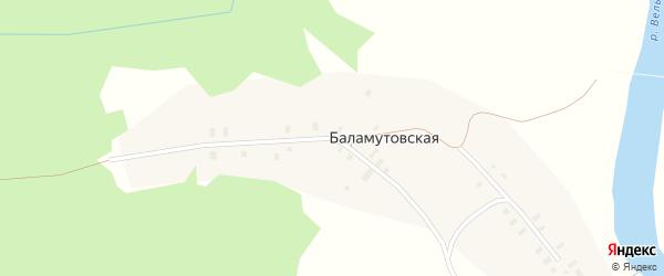 Переулок Посад на карте Титовской деревни с номерами домов
