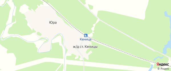 Карта железнодорожной станции Кеницы (Луковецкий с/с) в Архангельской области с улицами и номерами домов
