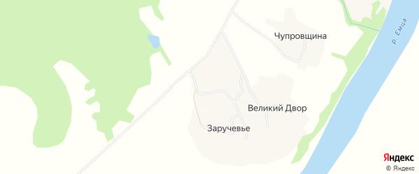 Карта деревни Верхнего Заполья в Архангельской области с улицами и номерами домов