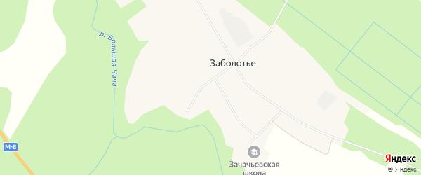 Карта деревни Заболотье в Архангельской области с улицами и номерами домов