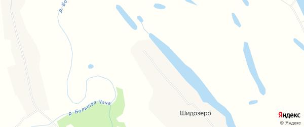 Карта деревни Шидозера в Архангельской области с улицами и номерами домов