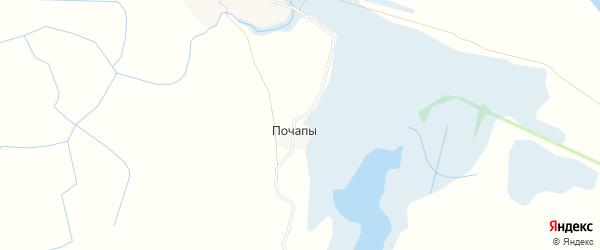 Карта деревни Почапы в Архангельской области с улицами и номерами домов