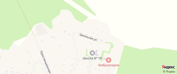 Школьная улица на карте поселка Шунема с номерами домов