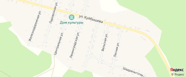 Архангельская улица на карте поселка Шунема с номерами домов