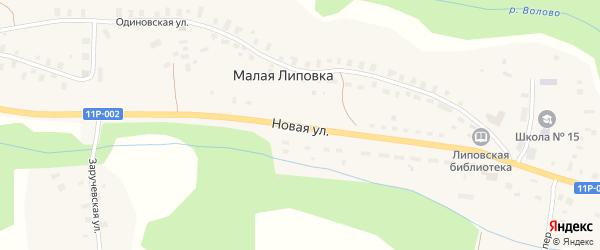 Новая улица на карте деревни Малой Липовки с номерами домов