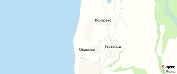 Карта деревни Корзовы в Архангельской области с улицами и номерами домов