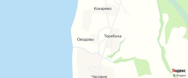 Карта деревни Оводовы в Архангельской области с улицами и номерами домов
