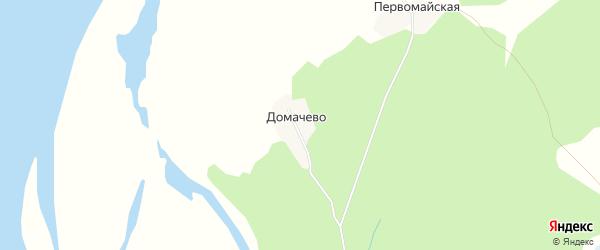 Карта деревни Домачево в Архангельской области с улицами и номерами домов