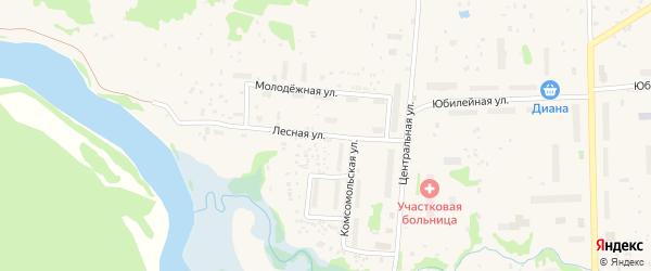 Лесная улица на карте Луковецкого поселка с номерами домов