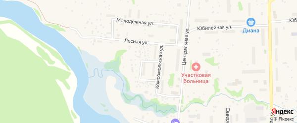 Строительная улица на карте Луковецкого поселка с номерами домов