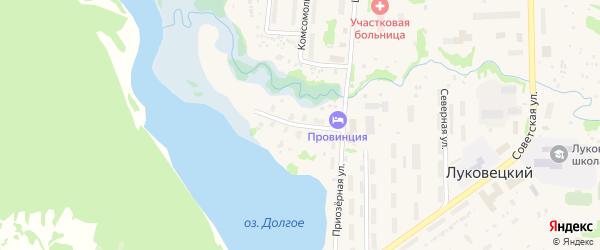 Приозерная улица на карте Луковецкого поселка с номерами домов