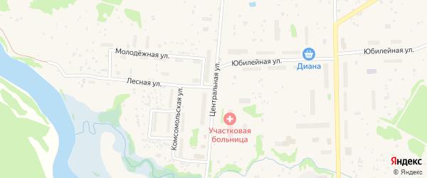 Центральная улица на карте Луковецкого поселка с номерами домов