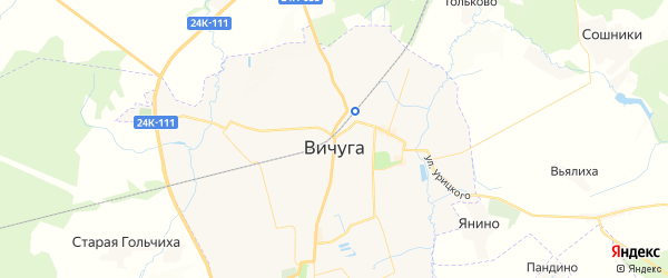 Карта Вичуги с районами, улицами и номерами домов