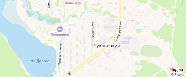 Северная улица на карте Луковецкого поселка с номерами домов