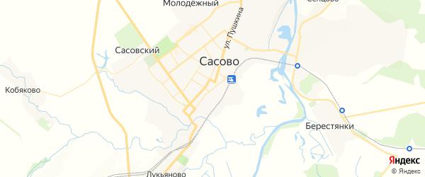 Карта Сасово с районами, улицами и номерами домов