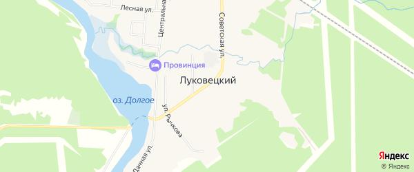 Карта Луковецкого поселка в Архангельской области с улицами и номерами домов